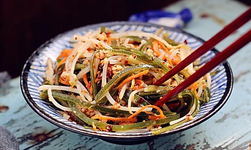 海带丝拌豆芽的做法