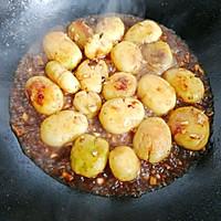 #做道懒人菜,轻松享假期#酱烧土豆仔的做法图解9