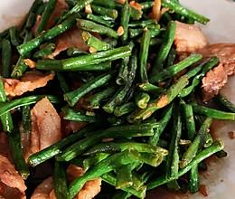 家常小炒长豆角炒肉的做法