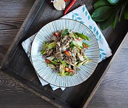 #花10分钟,做一道菜!#大葱炒牛肉的做法