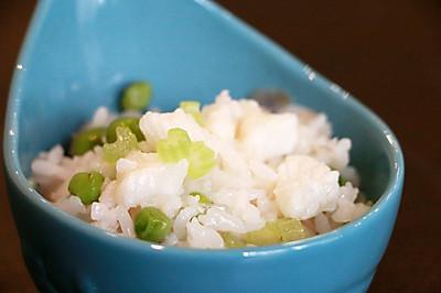 鳕鱼豌豆烩饭