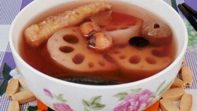 灵芝黑豆莲藕汤
