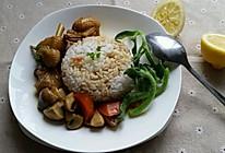 咖喱蘑菇鸡饭的做法
