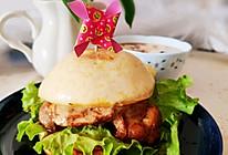 #美食视频挑战赛# 搞定中国味,馒头汉堡+豆腐脑的做法