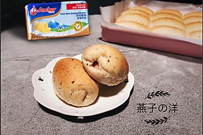 #安佳儿童创意料理#卷着香肠的多谷物面包