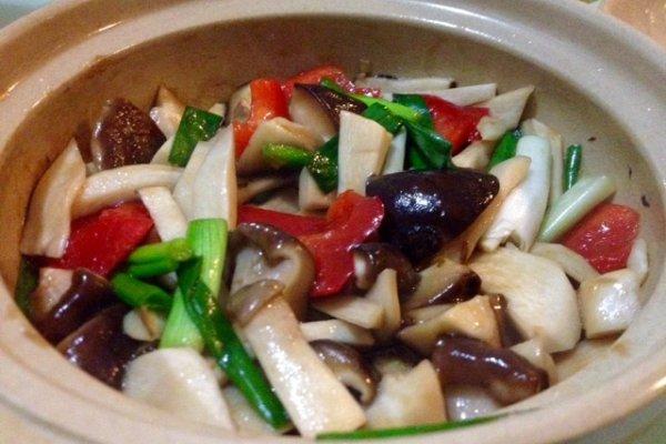 蚝油杂菇煲的做法
