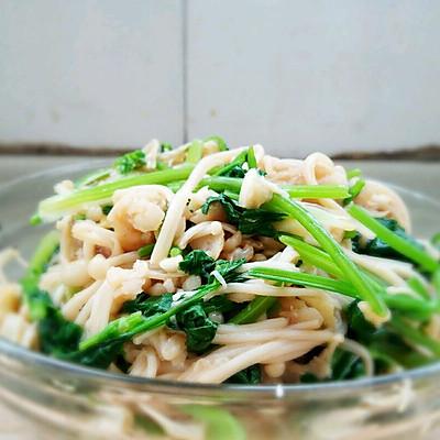 香菜鳕鱼金针菇(凉菜)