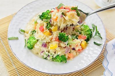 色彩的盛宴-奶油芝士蔬菜烩饭#百吉福芝士力量#