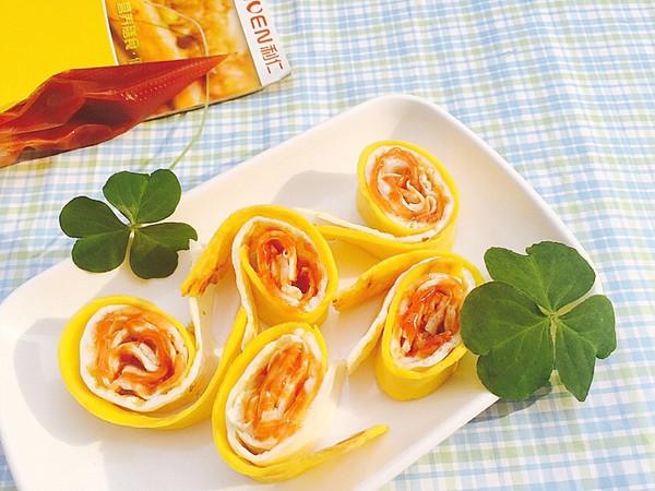 利仁电饼铛试用四--宝贝最爱的彩色蛋卷的做法
