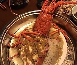 清蒸蒜泥澳洲红龙虾的做法
