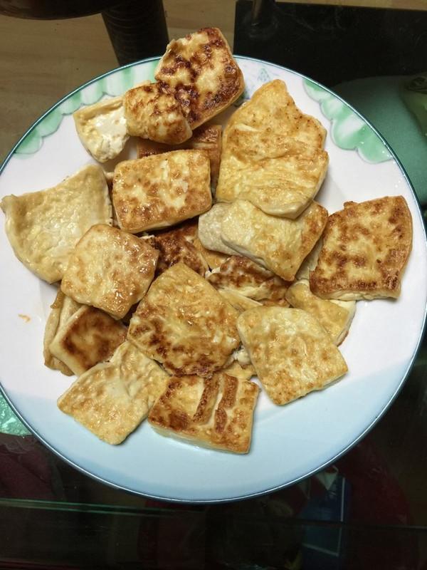 白玉镶金之煎嫩豆腐的做法