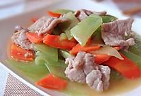 肉片炒莴笋的做法