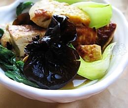 油菜炒豆腐的做法