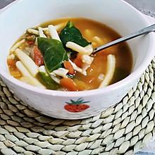 微辣又减脂的番茄菌蔬汤