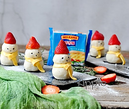 土豆泥雪人#百吉福冬季芝恋#的做法