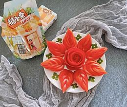 有颜值的糖拌西红柿花的做法
