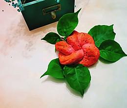 火龙果版花朵面包的做法