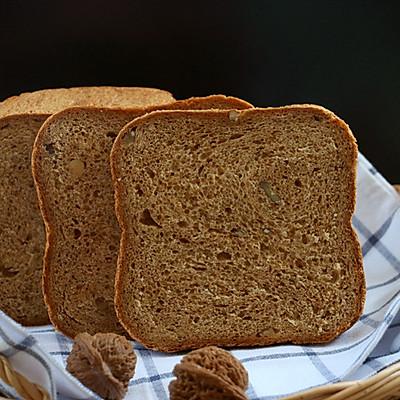 一键无油红糖核桃面包