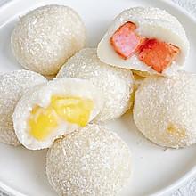 #冰箱剩余食材大改造#芒果&蜜桃糯米糍