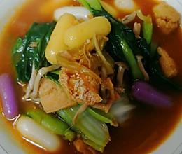 冬暖:家庭版韩式泡菜芝士年糕锅的做法