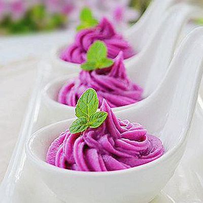 奶酪紫薯泥