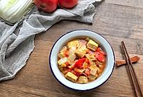 西红柿白菜炒豆腐的做法