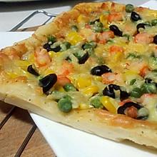 #松下烘焙魔法学院#鲜虾薄饼披萨