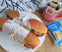 奥尔良鸡腿三明治#百吉福食尚达人#的做法