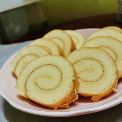 简单版裸蛋糕卷(小四卷)美味早餐/婴儿零食