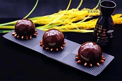 松子巧克力淋面蛋糕