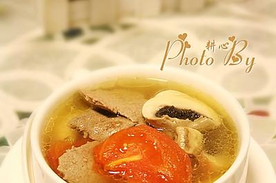 猪肝蘑菇番茄汤