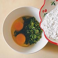 香椿芽糯米蛋饼的做法流程详解5