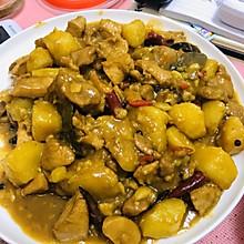 #轻辣卤香土豆焖鸡