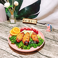 #换着花样吃早餐#敲好吃的奥尔良蜜汁烤翅