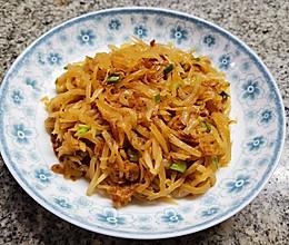 海米炒白萝卜丝的做法