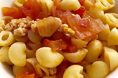 寶寶輔食之番茄洋蔥肉碎通粉
