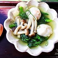 豌豆尖菌菇虾丸汤的做法图解10