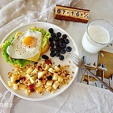 快手早餐|水煎蛋开放式三明治