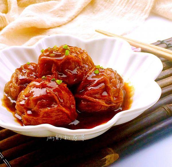 红烧油面筋塞肉~~超级下饭菜