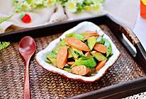 #我们约饭吧#火腿肠酱爆黄瓜辣椒的做法