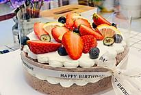可可戚风蛋糕草莓裸蛋糕(全教程)的做法