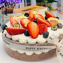 可可戚风蛋糕草莓裸蛋糕(全教程)