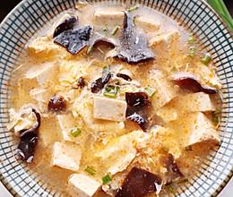 #换着花样吃早餐#虾头豆腐鸡蛋汤的做法