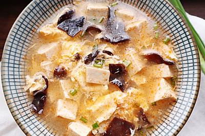 虾头豆腐鸡蛋汤
