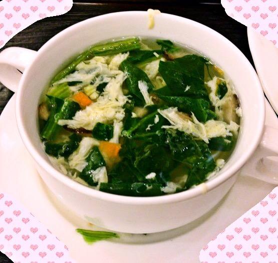 无油菠菜汤(肯德基芙蓉鲜蔬汤的味道)的做法