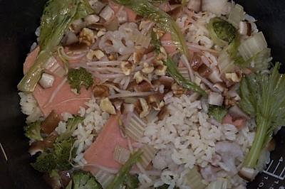 火腿蔬菜饭——1岁宝宝辅食