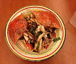 葱姜炒蟹(梭子蟹)的做法