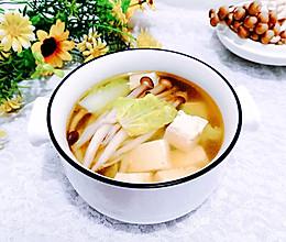 #入秋滋补正当时#蟹味菇白菜豆腐汤的做法