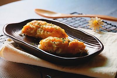 土豆烤银鳕鱼#丘比沙拉汁#