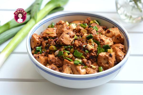 肉末青蒜豆腐的做法